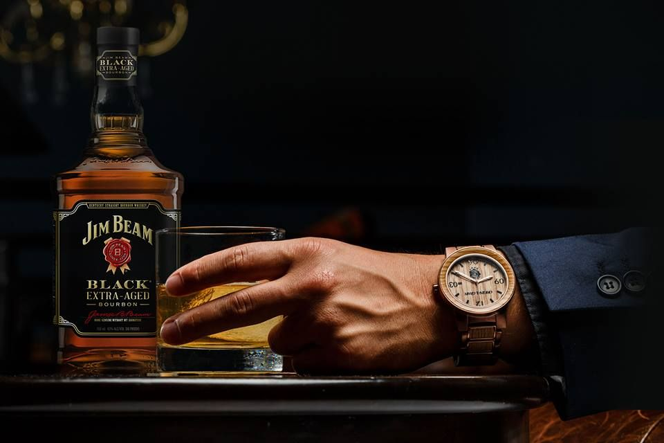 enthusiast black wine barrel watches asp whiskey watch