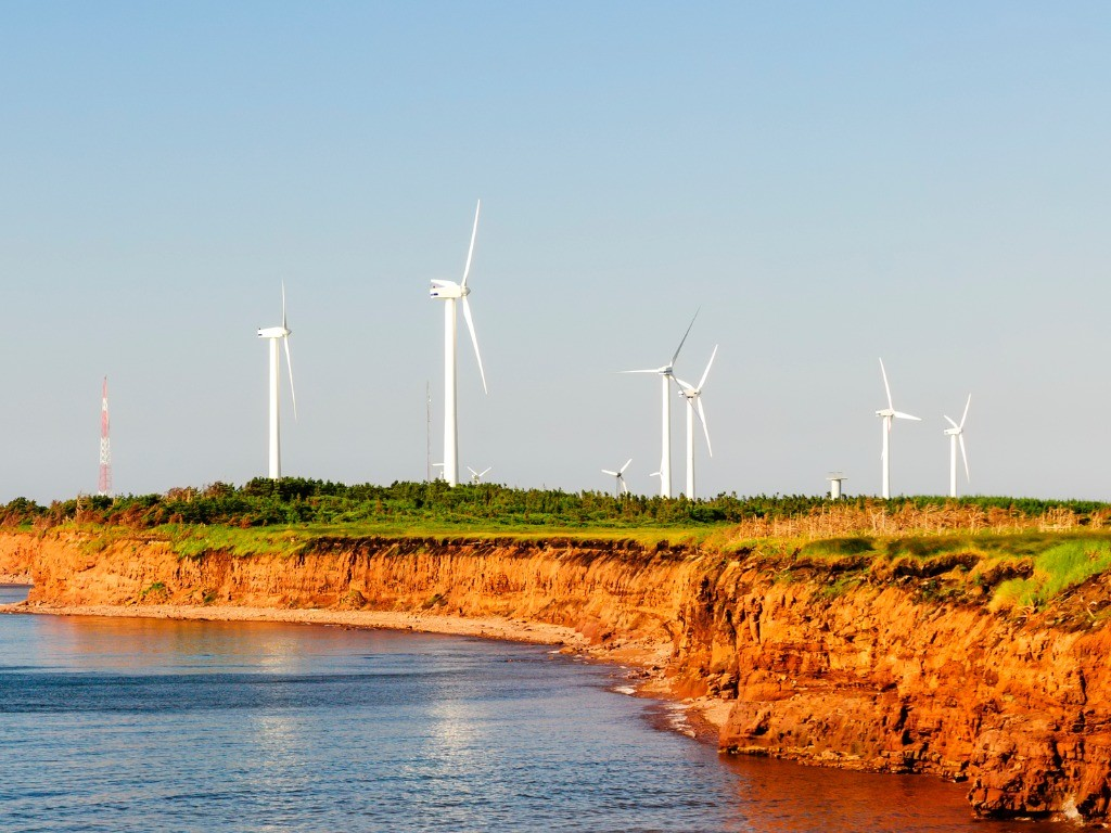 Wind Farm on Island