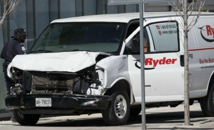 Van Used In Toronto Attack