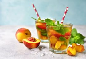 Alcohol with peaches