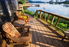 Deck With Muskokoa Chair