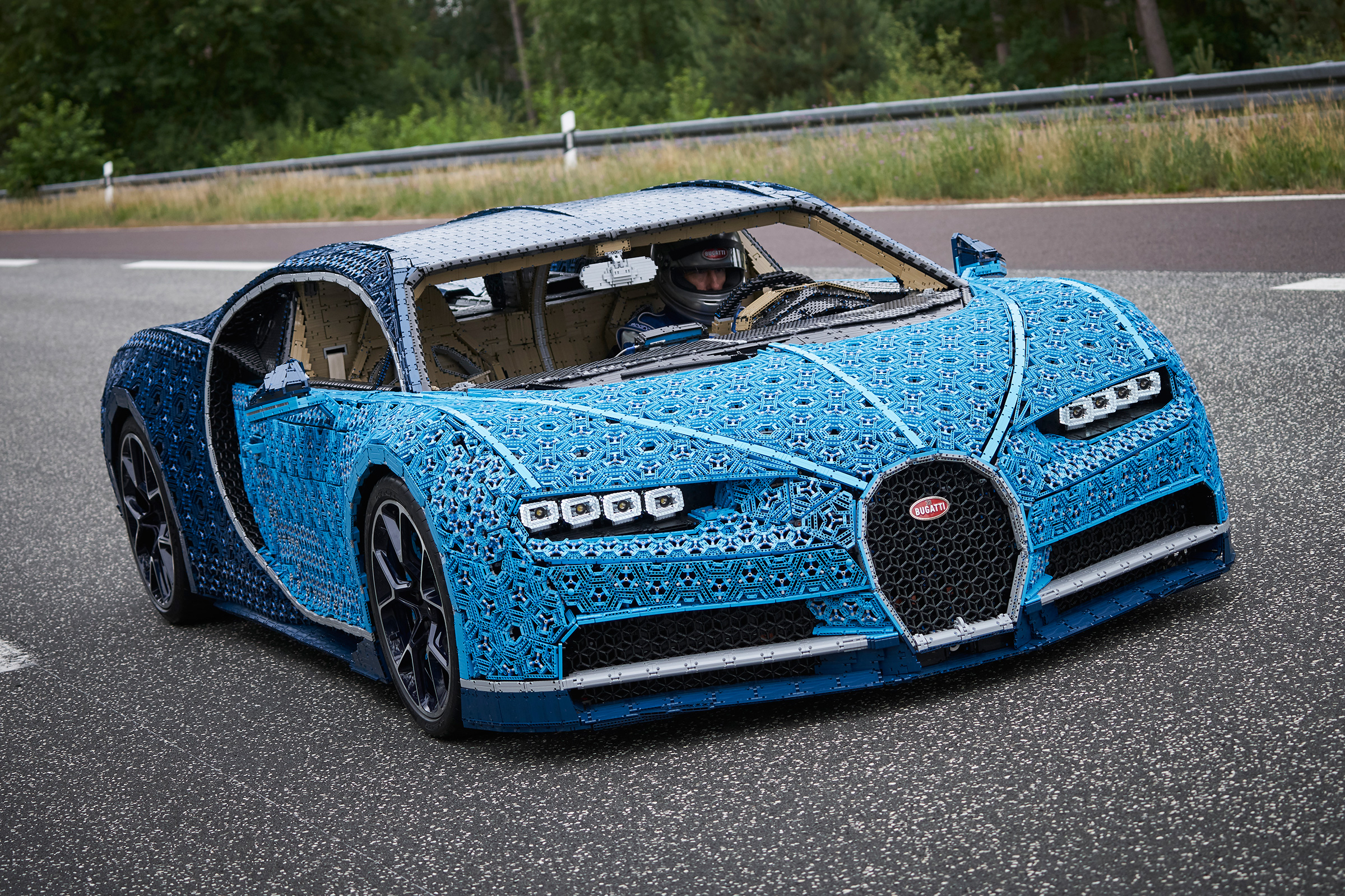 yes this life size lego bugatti chiron is fully drivable. Black Bedroom Furniture Sets. Home Design Ideas