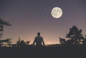 Moon illuminating the sky