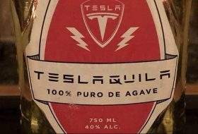Teslaquila label