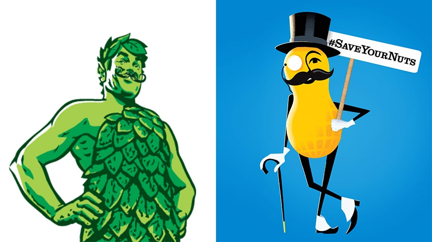 Green Giant Mr Peanut Movember