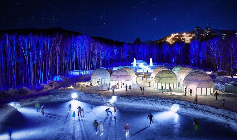 Japan ice village